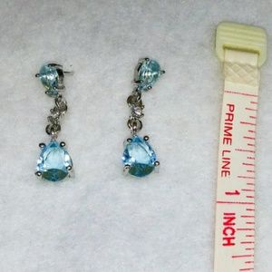 Jewelry - 🎀💙925 Aquamarine Water Drop Earings